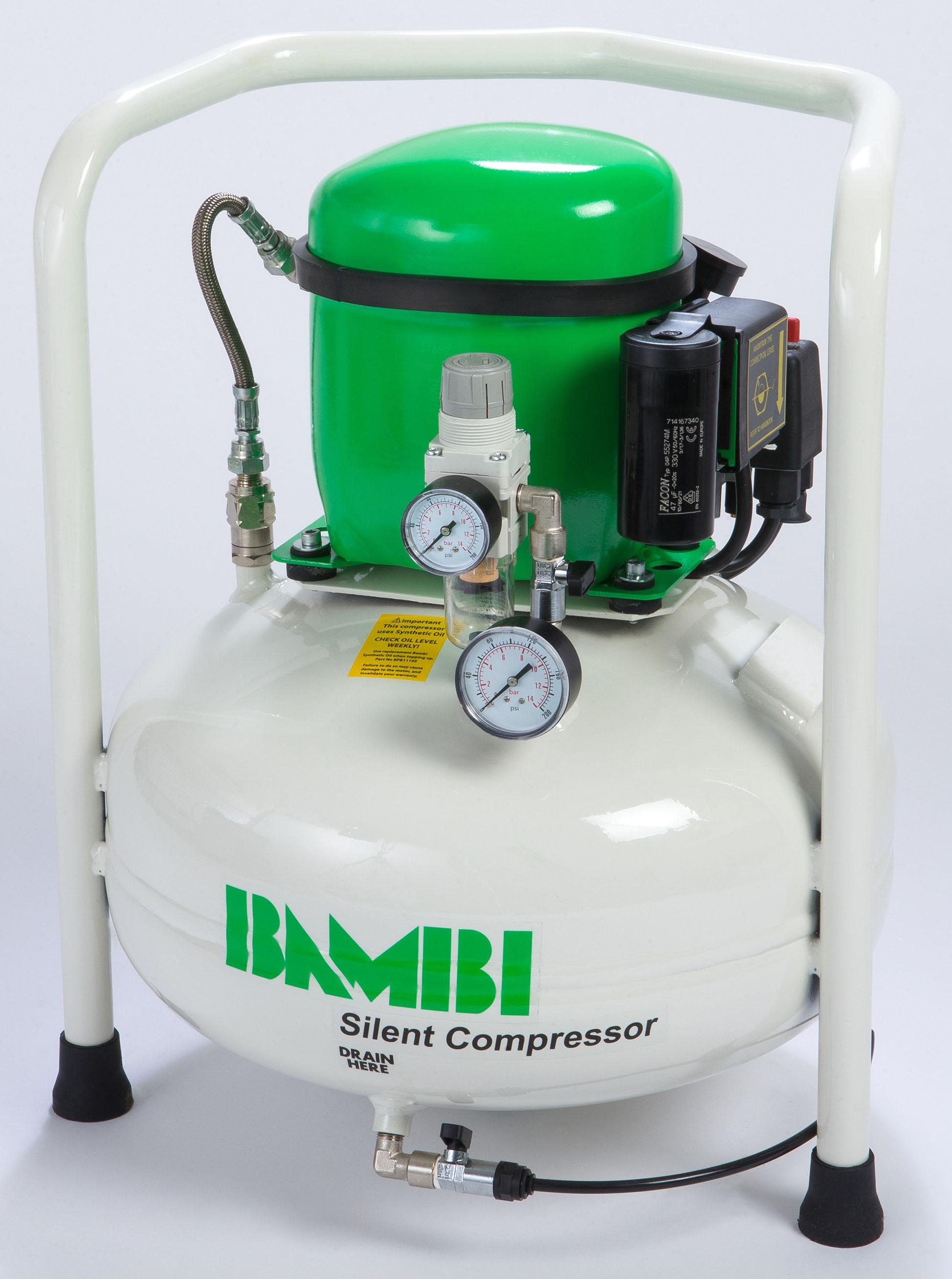 Midlands UK supplier of Bambi BB24V air compressor