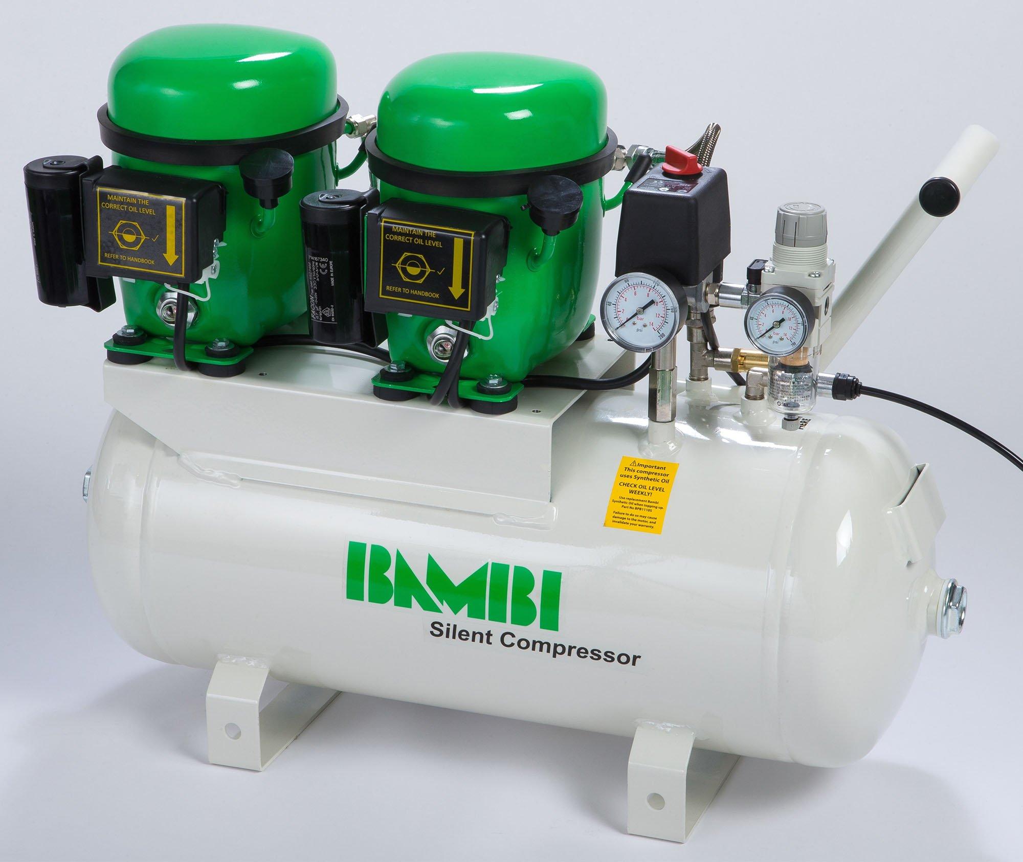 Midlands UK supplier of Bambi BB24D air compressor