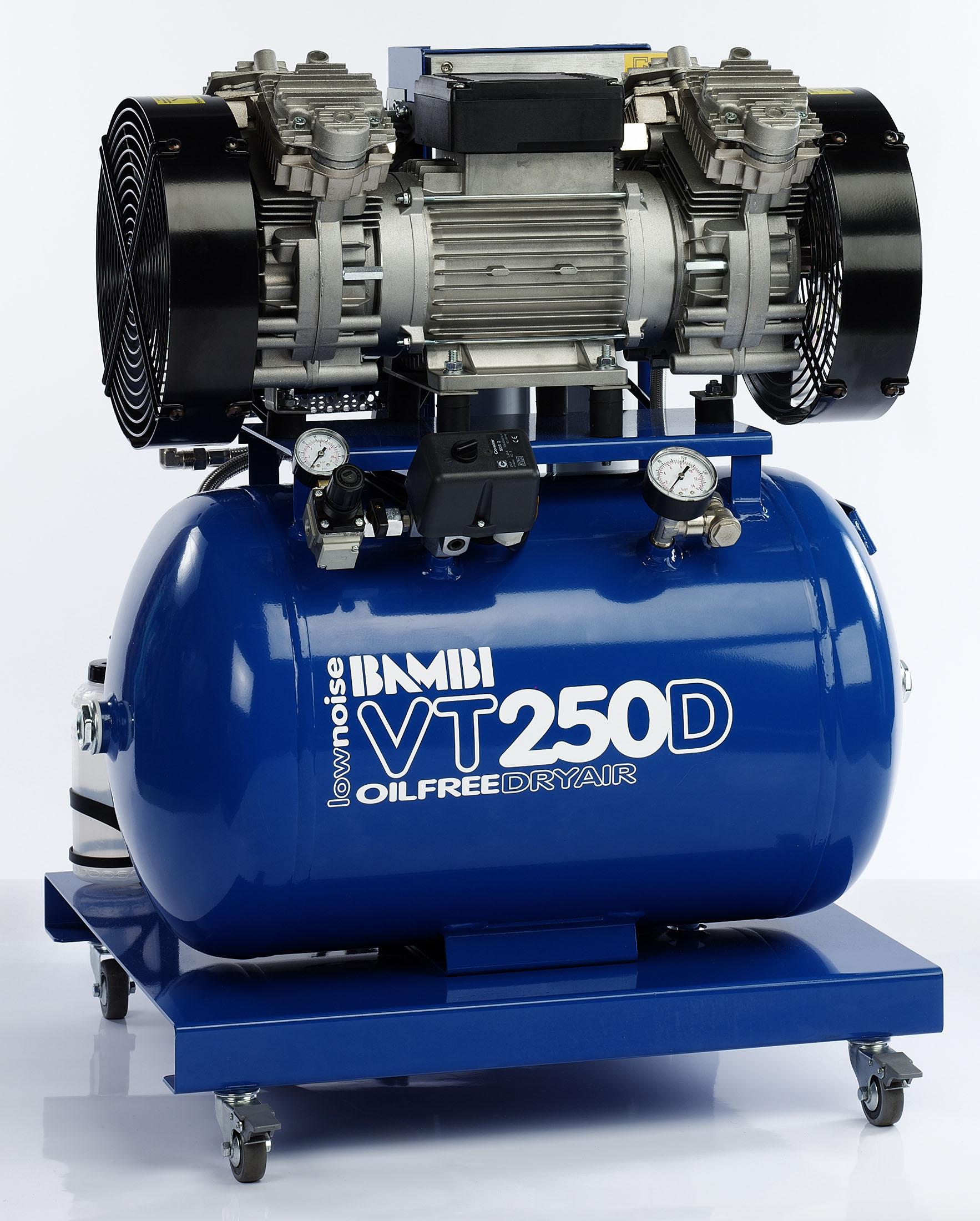 Midlands UK supplier of Bambi VT250D air compressor
