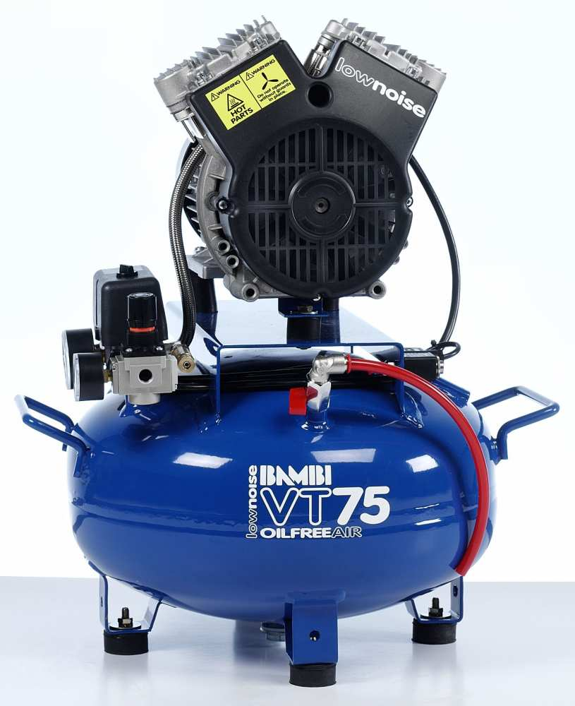 Midlands UK supplier and authorised distributor of the Bambi VT75 air compressor range