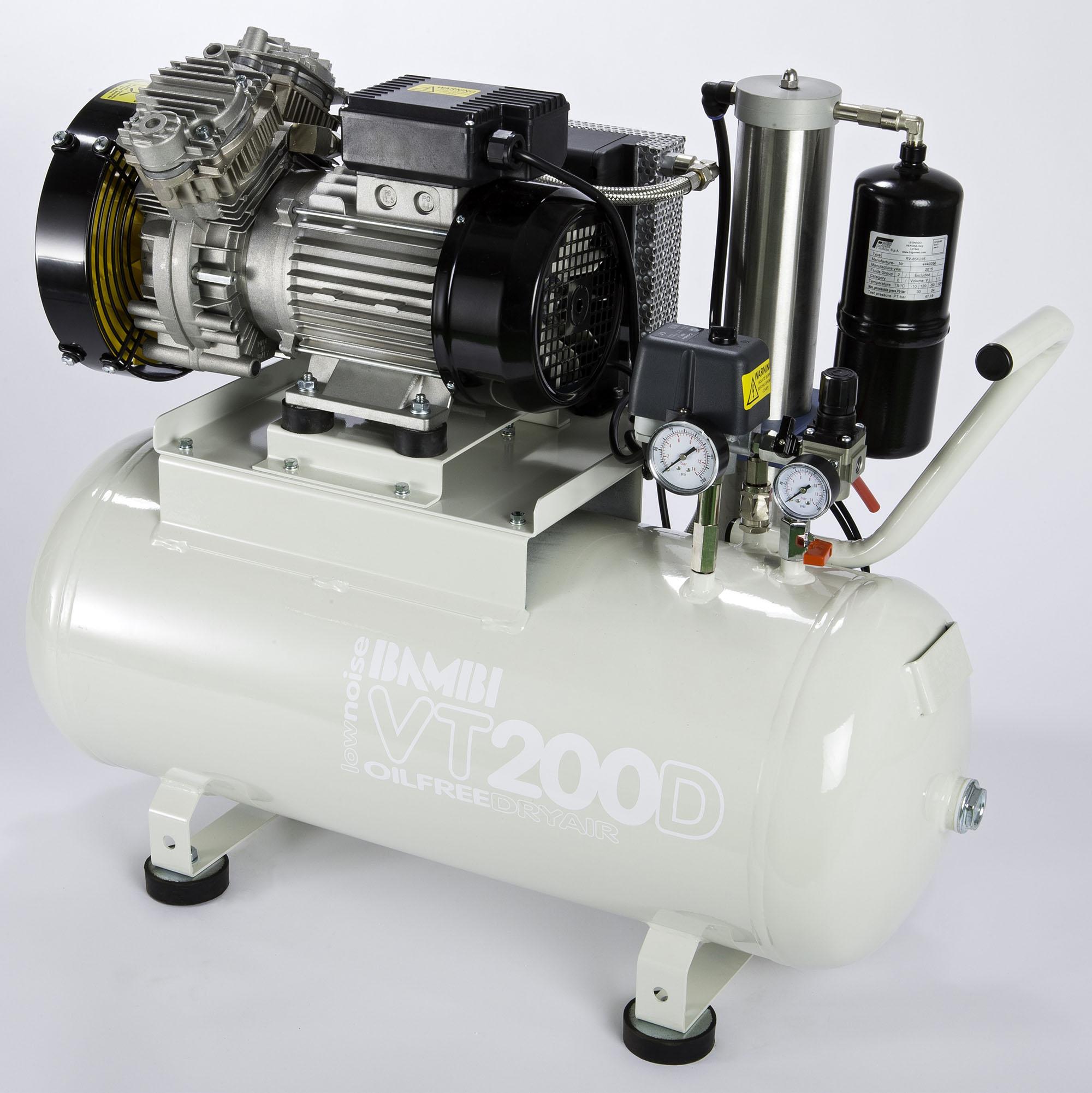 Midlands UK supplier of Bambi VTH200D air compressor