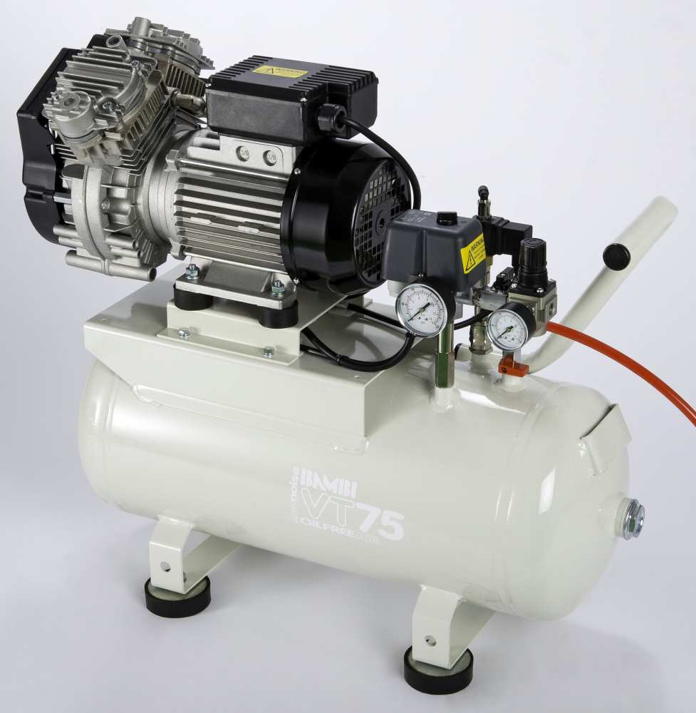Midlands UK supplier and authorised distributor of the Bambi VTH75 air compressor range