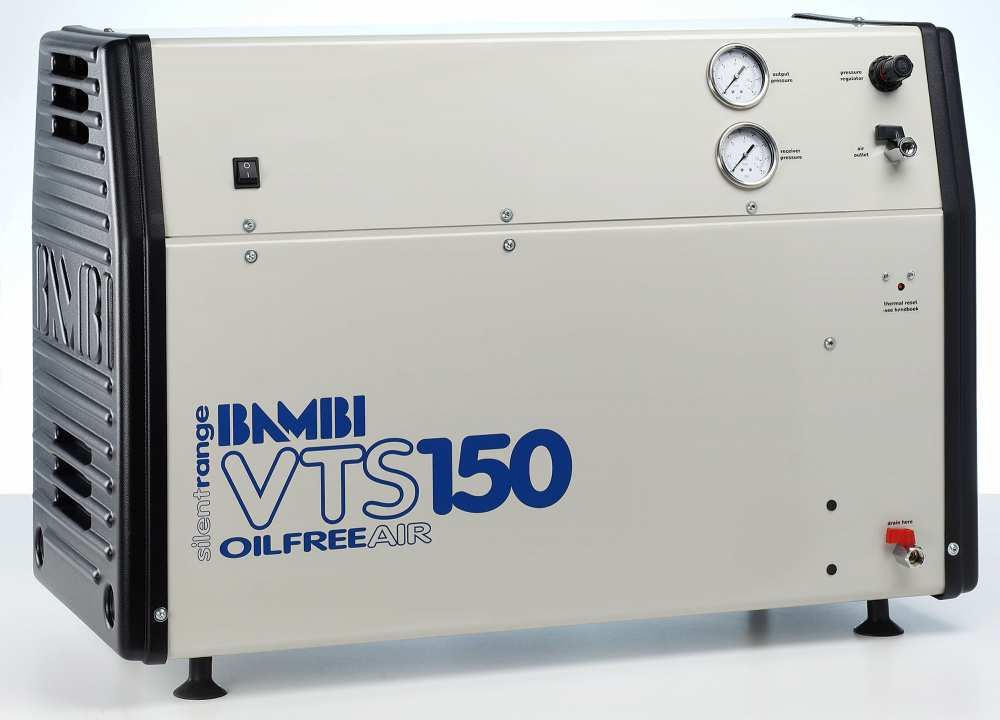Midlands UK supplier and authorised distributor of the Bambi VTS150 air compressor range