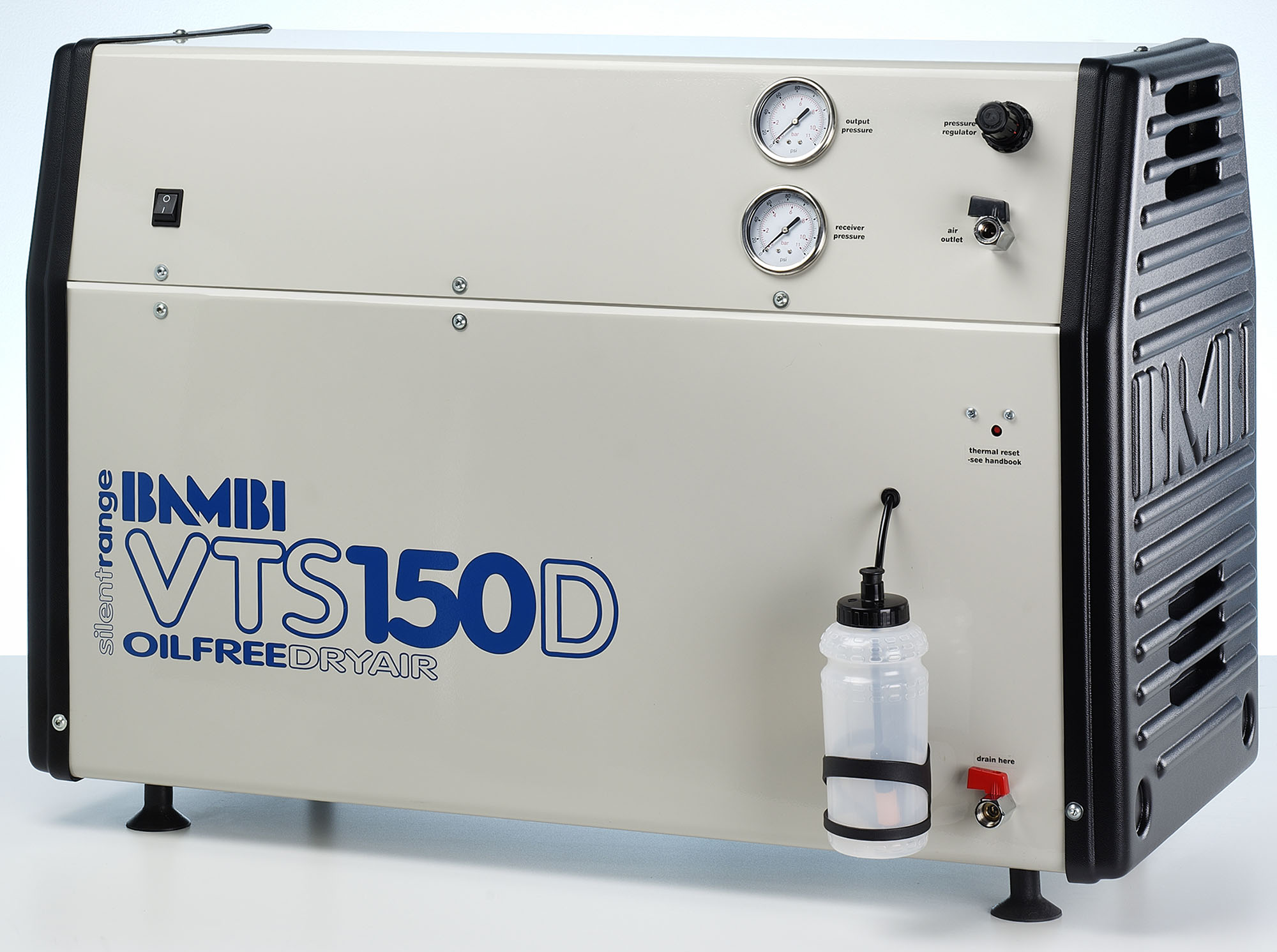 Midlands UK supplier of Bambi VTS150D air compressor