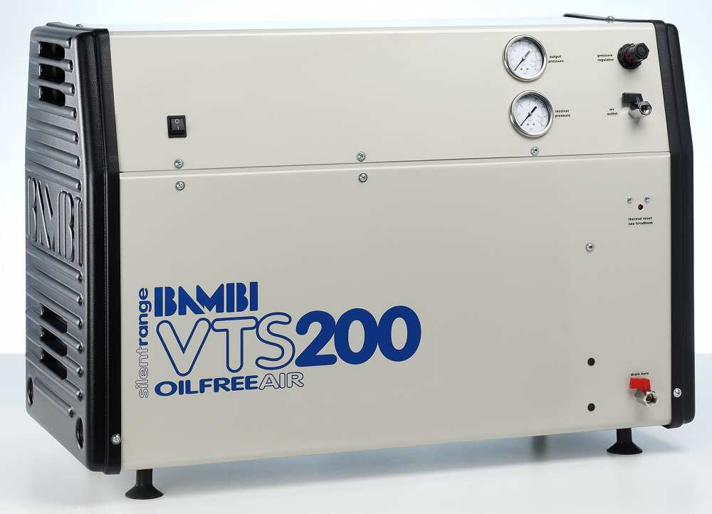 Midlands UK supplier and authorised distributor of the Bambi VTS200 air compressor range