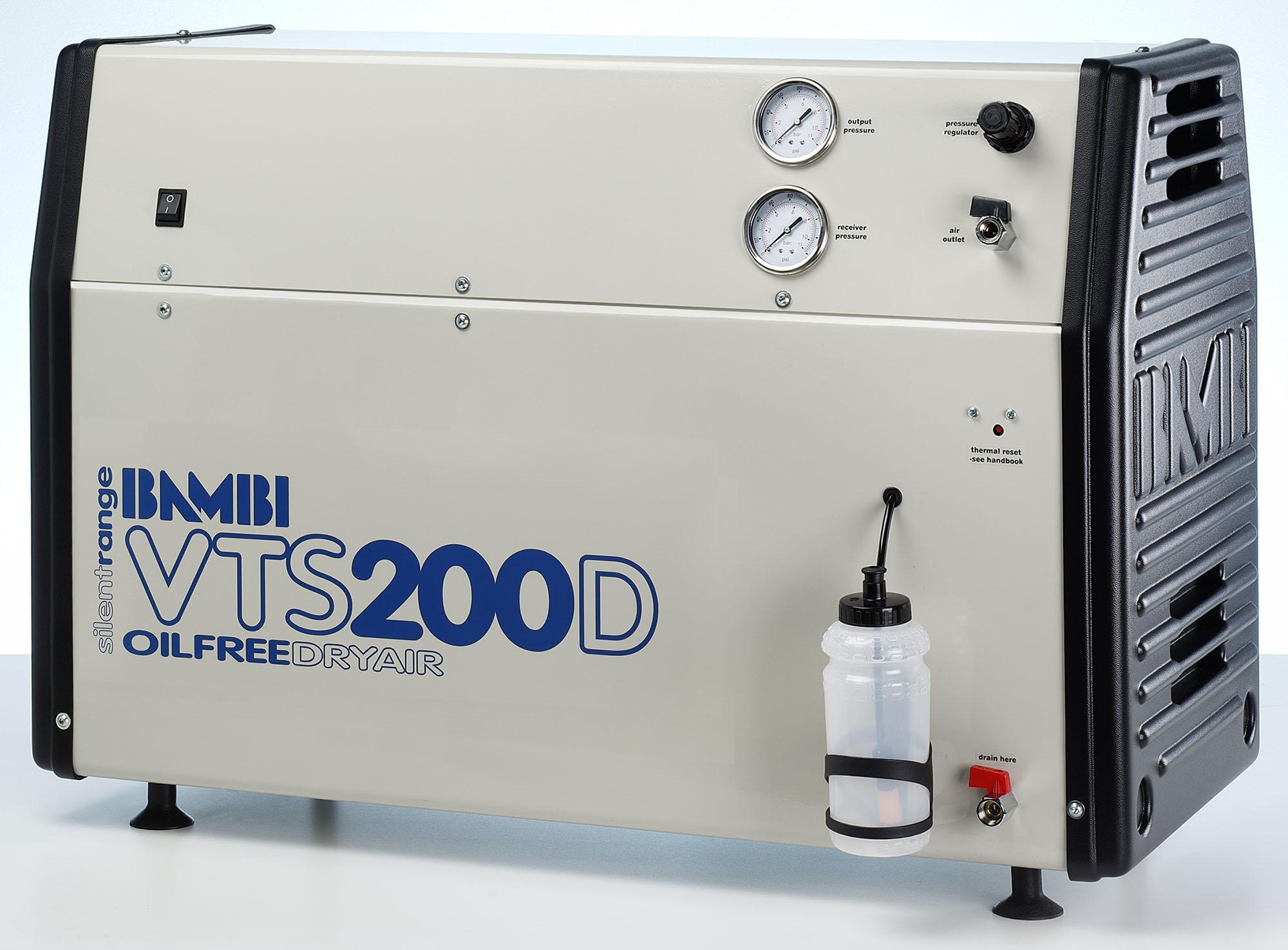 Midlands UK supplier of Bambi VTS200D air compressor