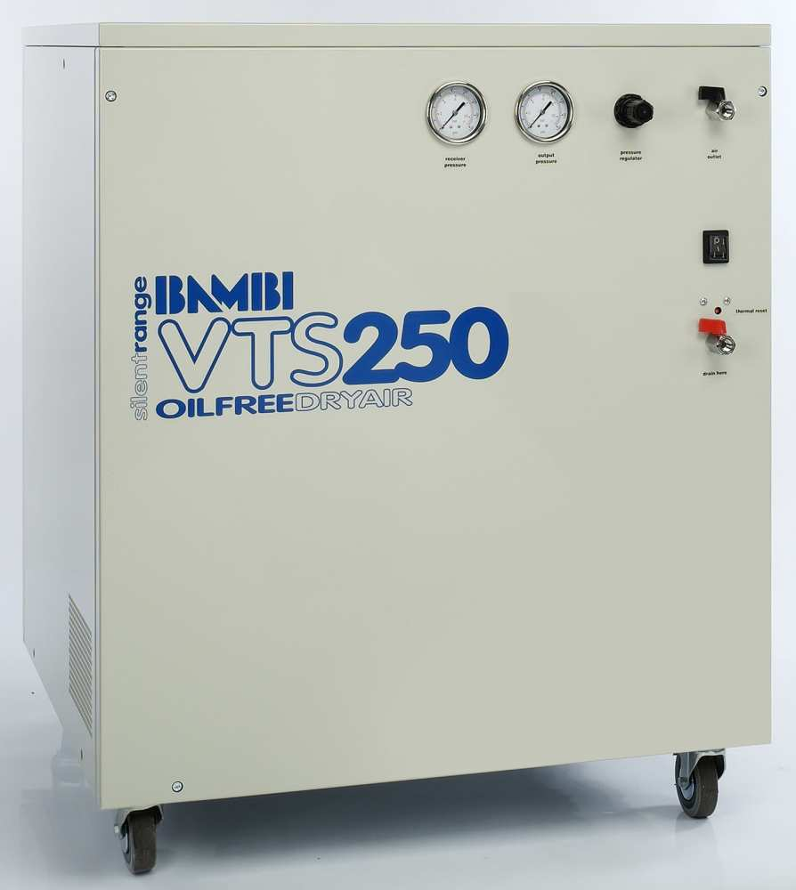 Midlands UK supplier and authorised distributor of the Bambi VTS250 air compressor range