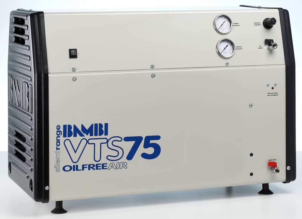 Midlands UK supplier and authorised distributor of the Bambi VTS75 air compressor range