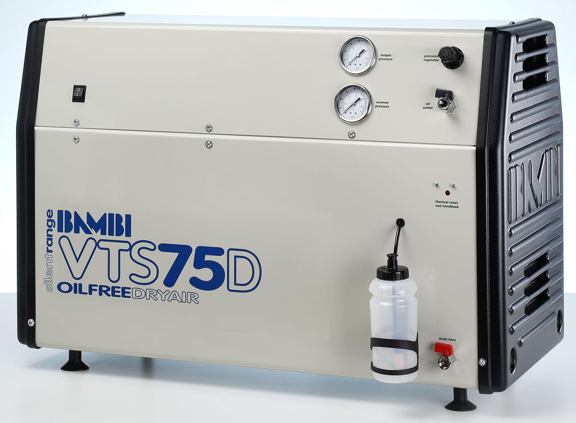 Midlands UK supplier of Bambi VTS75D air compressor