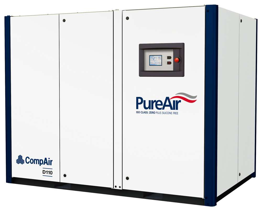 Midlands UK supplier and authorised distributor of the CompAir D110 air compressor range