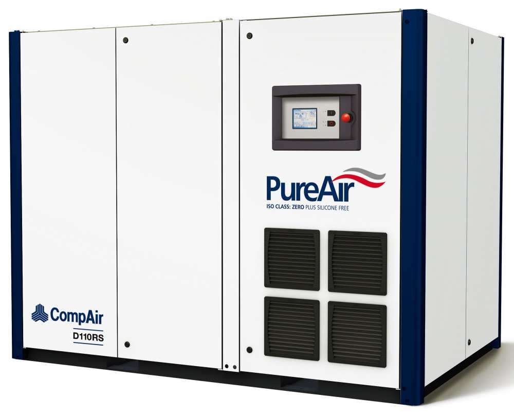 Midlands UK supplier and authorised distributor of the CompAir D110RS air compressor range