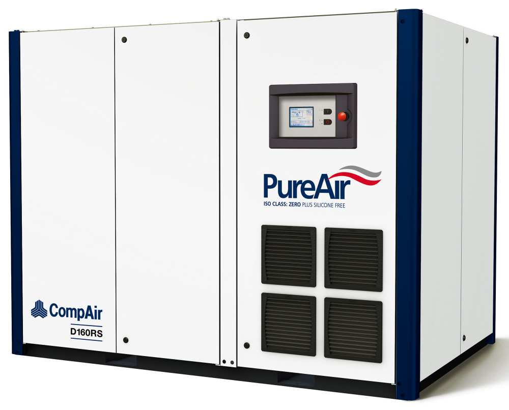 Midlands UK supplier and authorised distributor of the CompAir D160RS air compressor range
