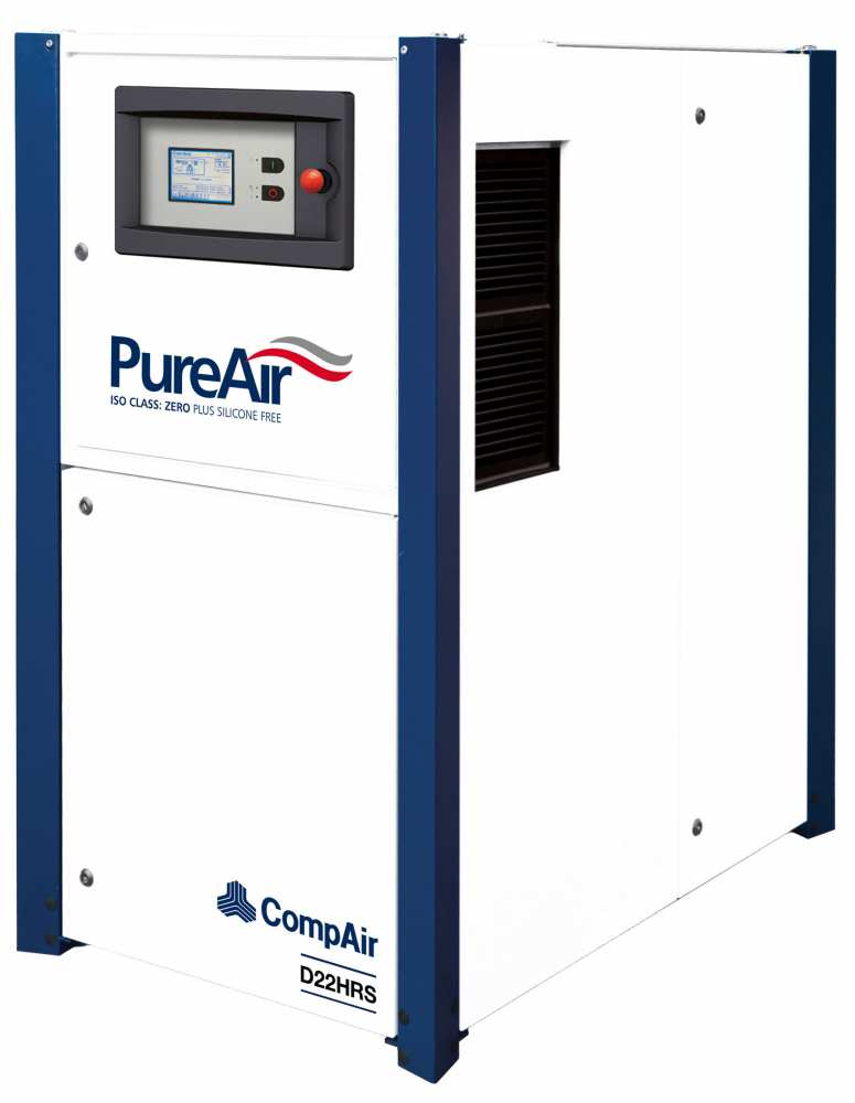 Midlands UK supplier and authorised distributor of the CompAir D22HRS air compressor range