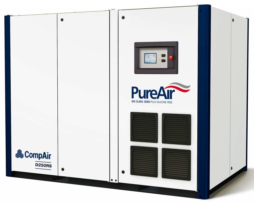Midlands UK supplier and authorised distributor of the CompAir D250RS air compressor range