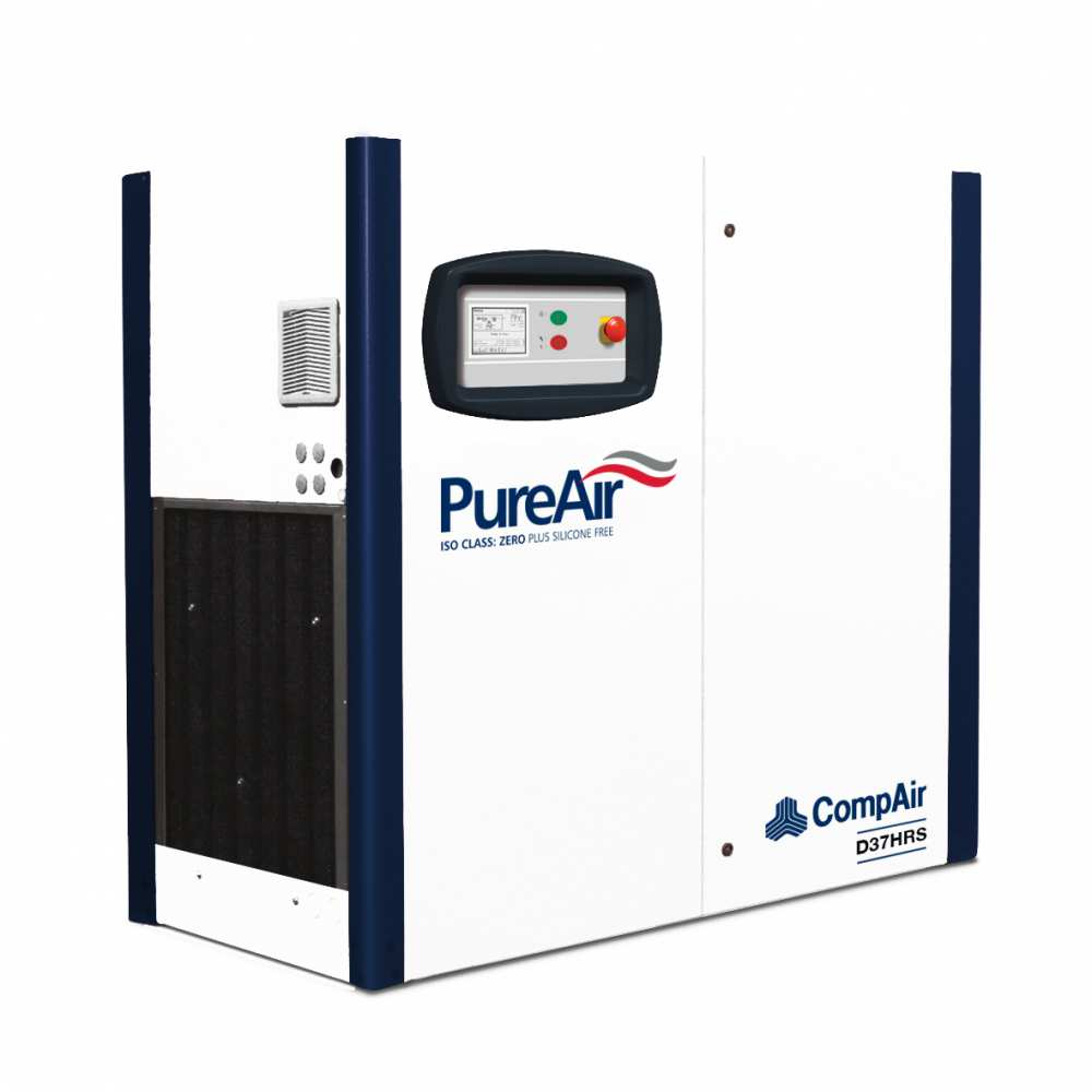 Midlands UK supplier and authorised distributor of the CompAir D37HRS air compressor range