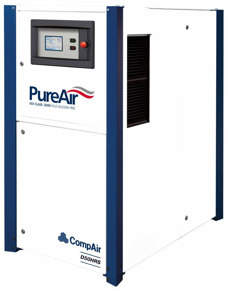 Midlands UK supplier and authorised distributor of the CompAir D50HRS air compressor range