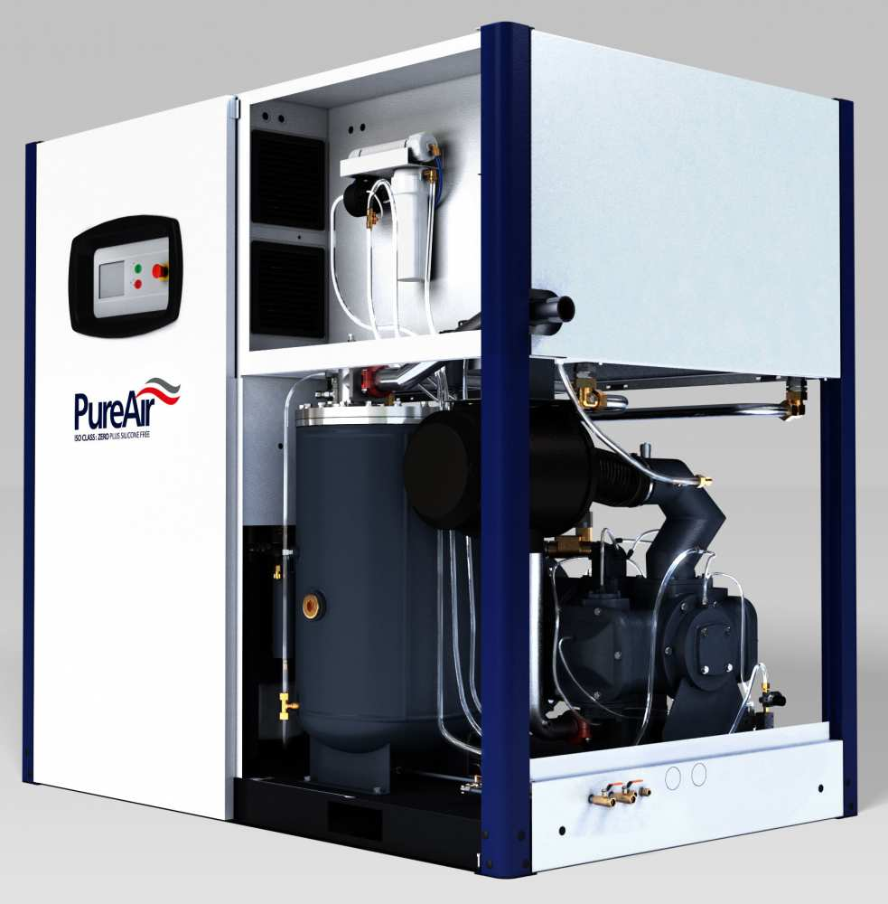 Midlands UK supplier and authorised distributor of the CompAir D75HRS air compressor range