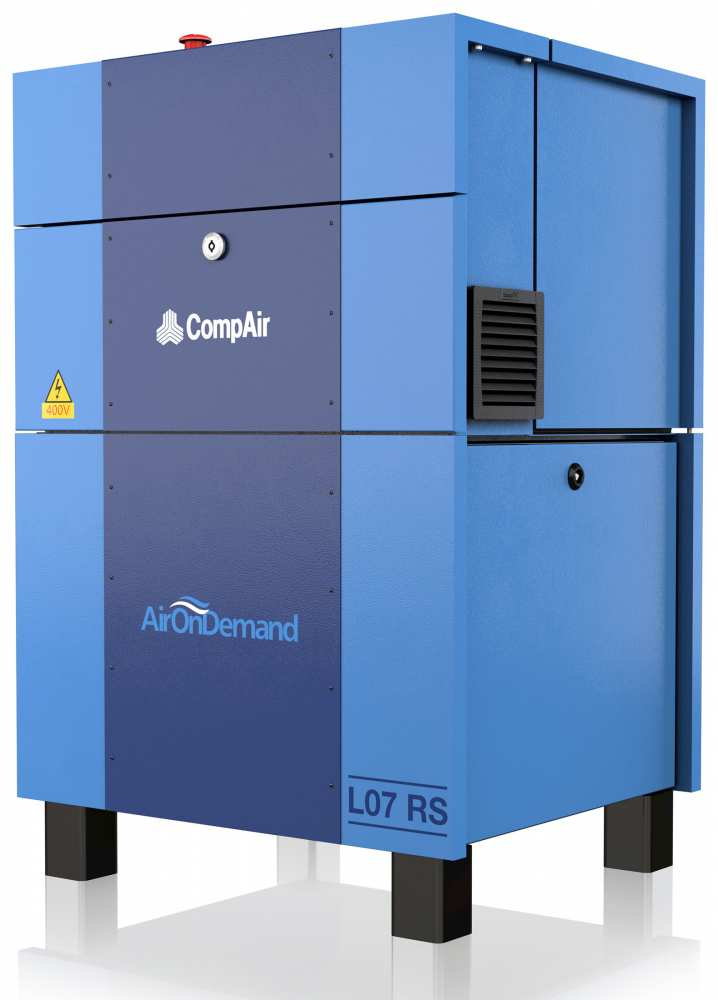 Midlands UK supplier and authorised distributor of the CompAir L07RS air compressor range