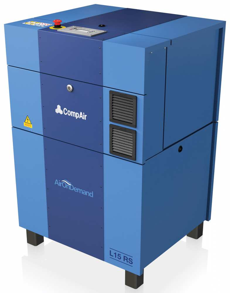 Midlands UK supplier and authorised distributor of the CompAir L15RS air compressor range
