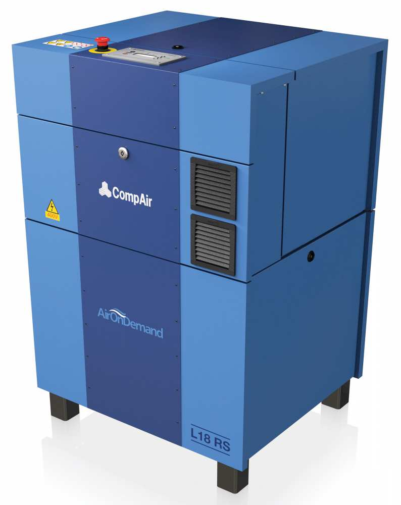 Midlands UK supplier and authorised distributor of the CompAir L18RS air compressor range