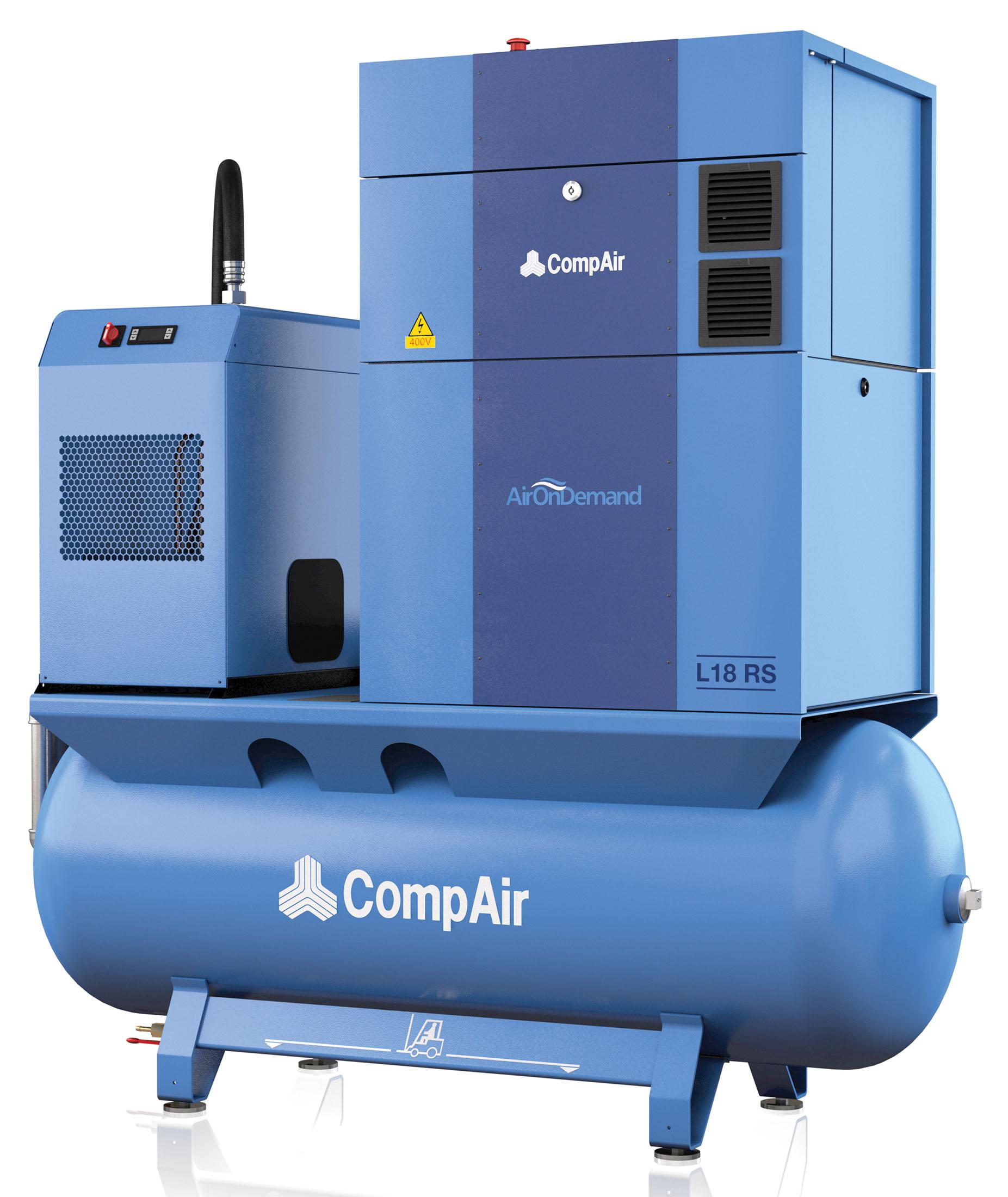 Midlands UK supplier of CompAir L18RS AirStation air compressor