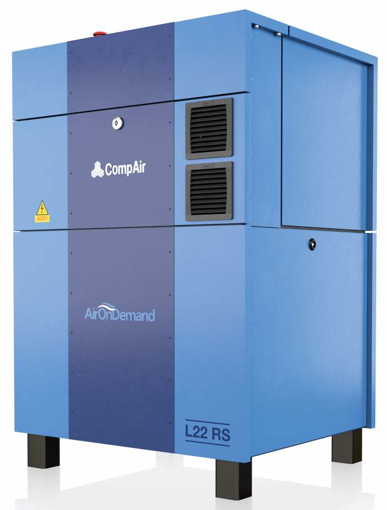 Midlands UK supplier and authorised distributor of the CompAir L22RS air compressor range