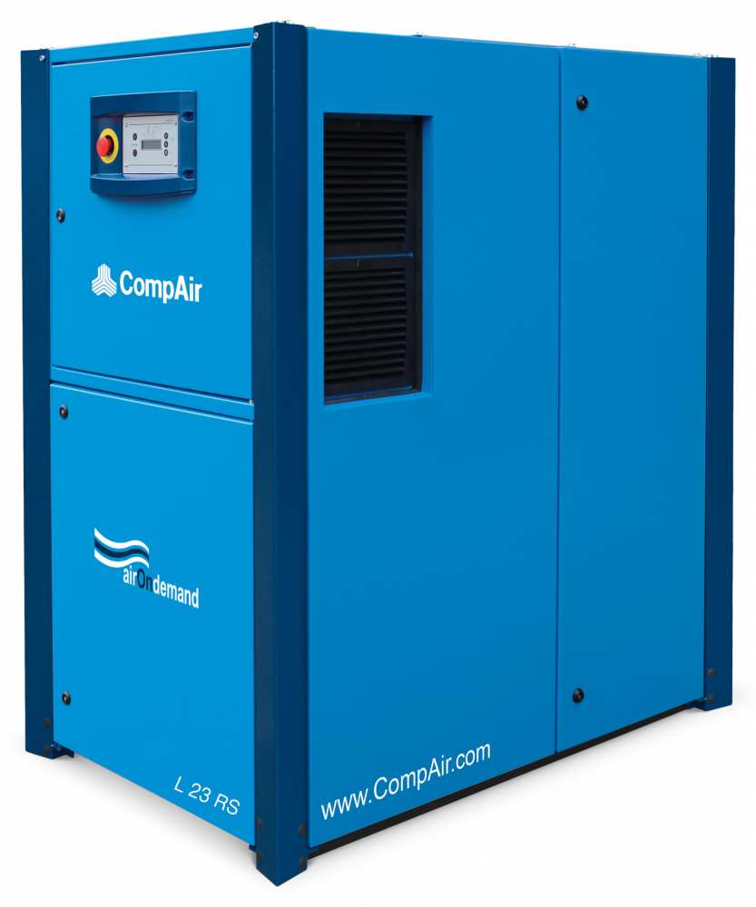 Midlands UK supplier and authorised distributor of the CompAir L23RS air compressor range