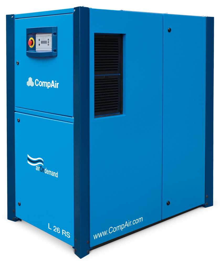 Midlands UK supplier and authorised distributor of the CompAir L26RS air compressor range