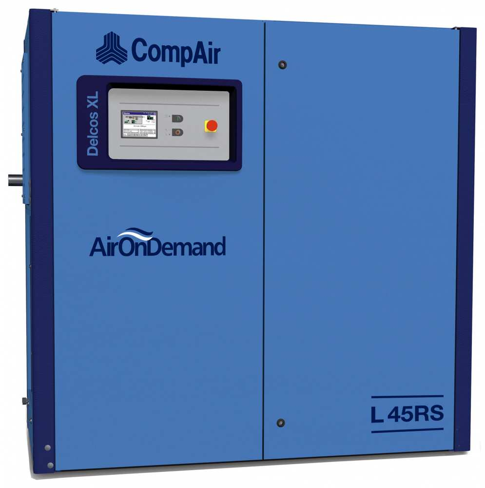 Midlands UK supplier and authorised distributor of the CompAir L45RS air compressor range
