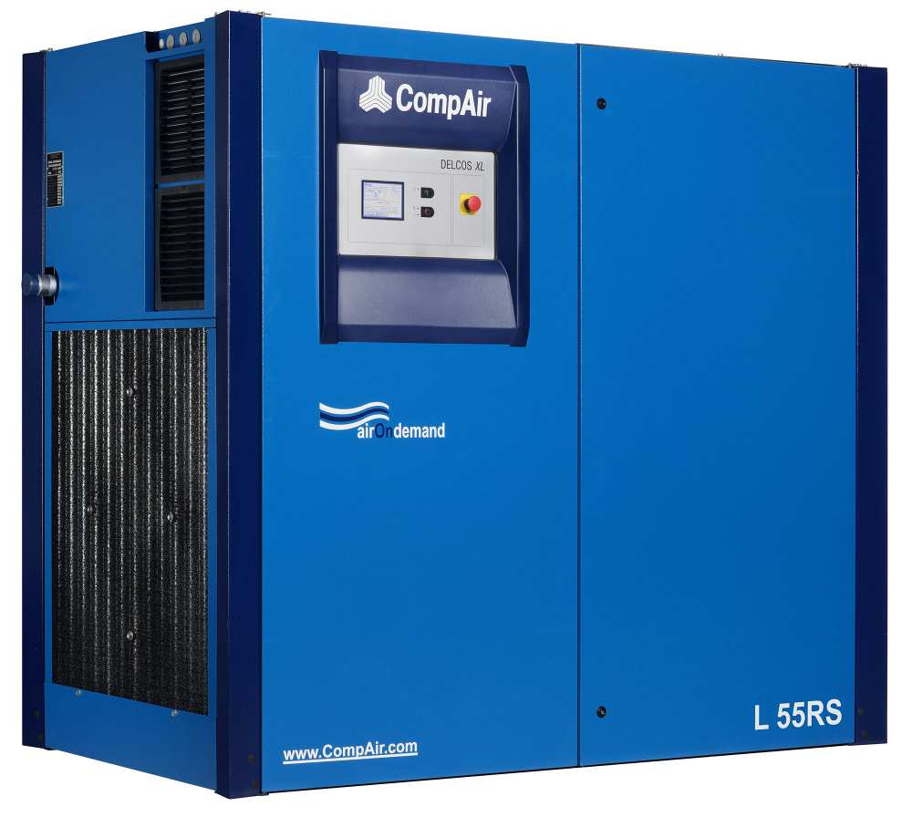 Midlands UK supplier and authorised distributor of the CompAir L55RS air compressor range