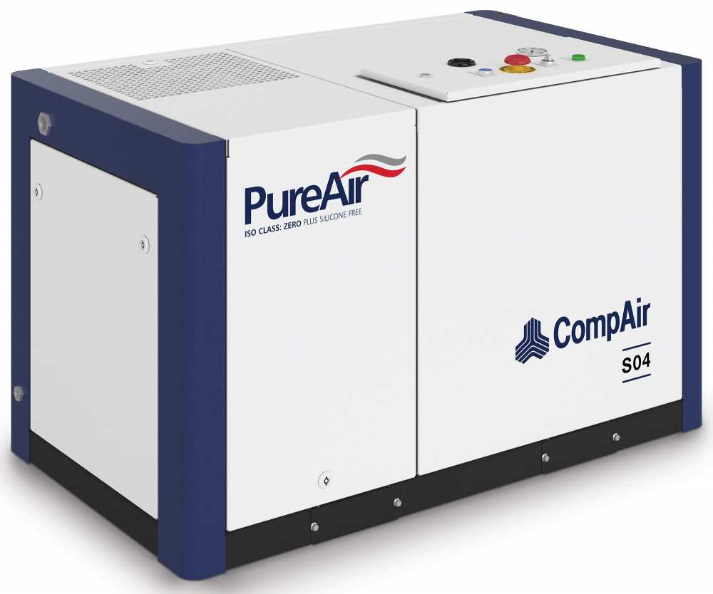 Midlands UK supplier and authorised distributor of the CompAir S04 air compressor range