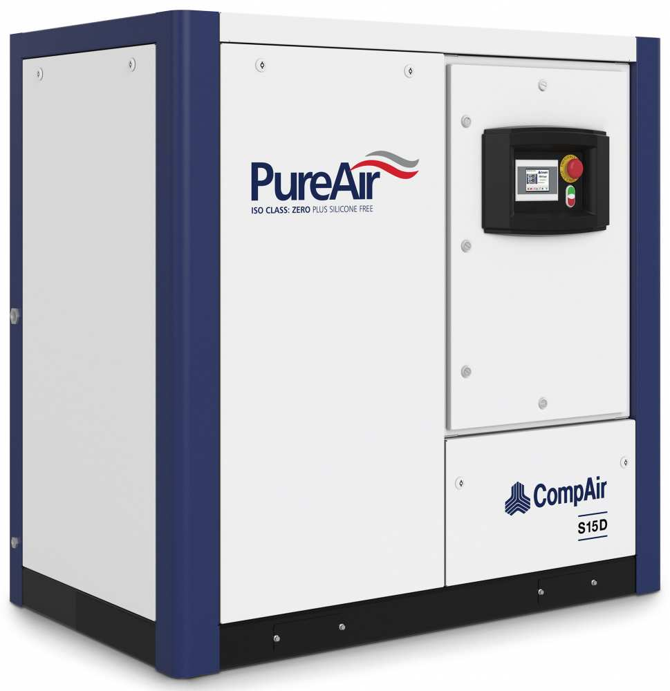 Midlands UK supplier and authorised distributor of the CompAir S15D air compressor range