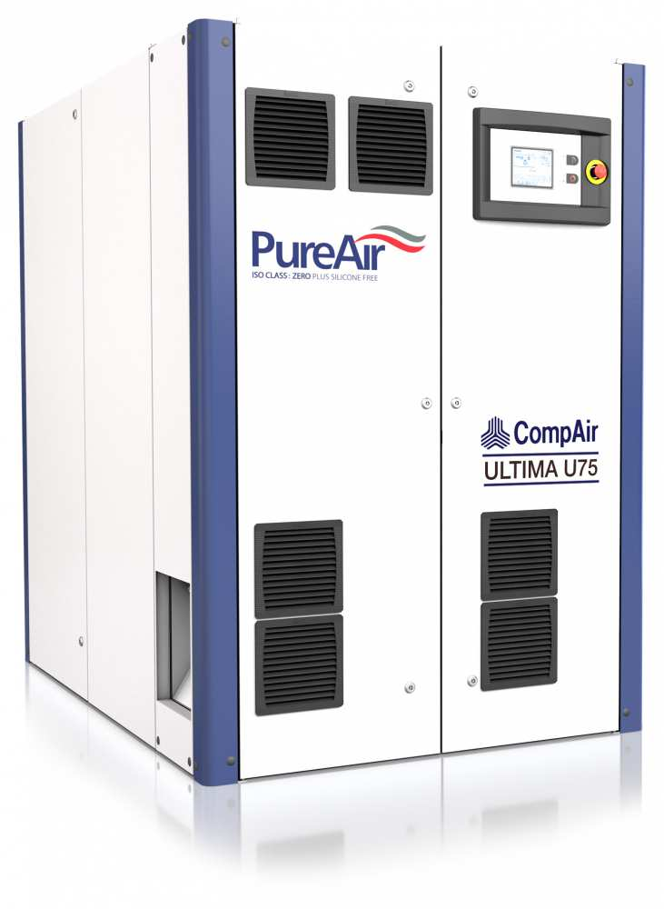 Midlands UK supplier and authorised distributor of the CompAir U75 air compressor range