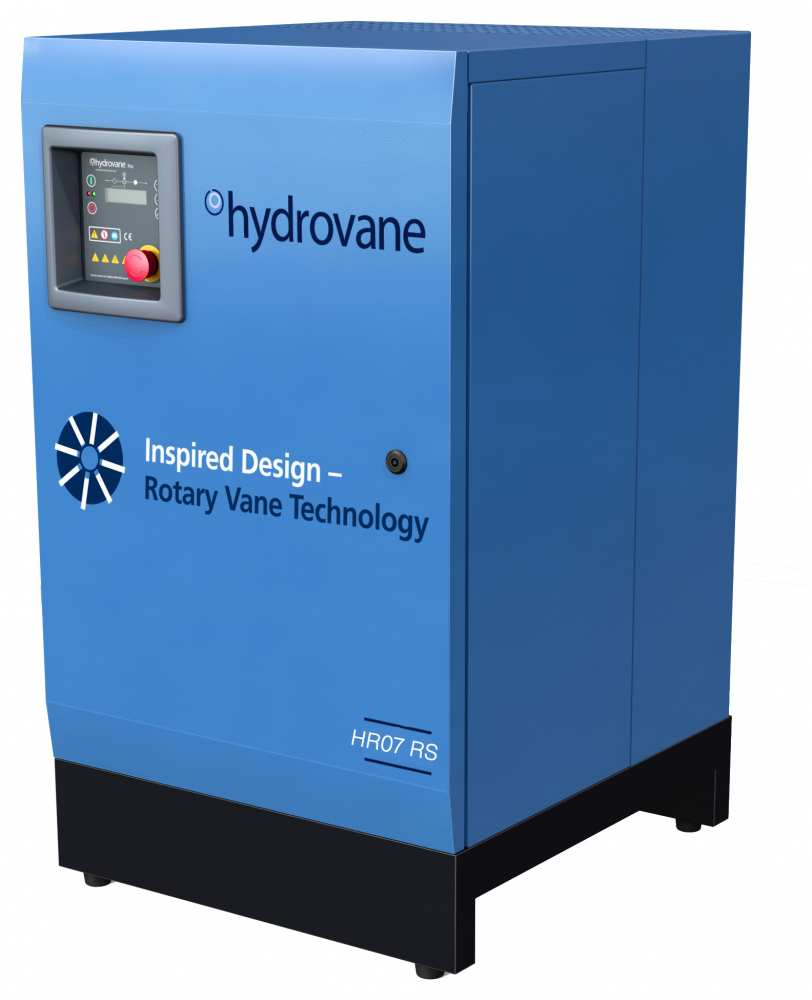 Midlands UK supplier and authorised distributor of the Hydrovane HR07RS air compressor range