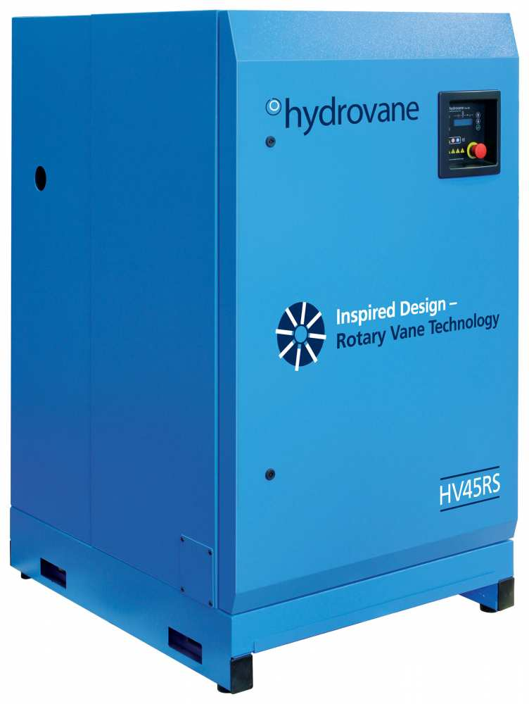 Midlands UK supplier and authorised distributor of the Hydrovane HV45RS air compressor range