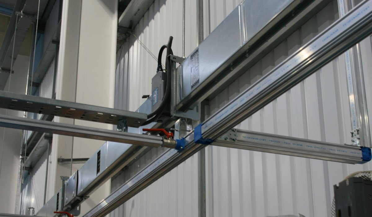 TESEO Pipework Installation on industrial production line