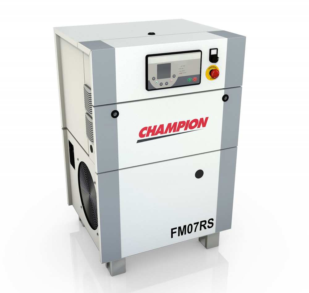 Midlands UK supplier and authorised distributor of the Champion FM7RS air compressor range